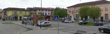 La piazza e il municipio di Roccafranca