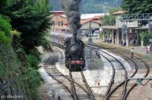 Una delle locomotive d'epoca in servizio sulla Brescia-Iseo (Foto Federico Sbardolini)