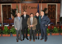 Mario Gregorio è il secondo da sinistra