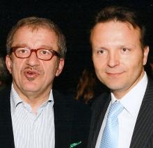 Da sinistra, Maroni con Pasinetti, neo sindaco